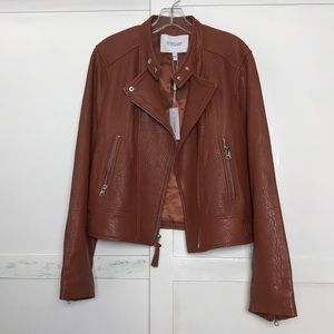 DEREK LAM 10 CROSBY Lamb Leather Moto Jacket NWT